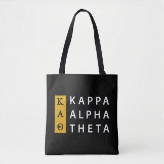 Kappa Alpha Theta   Stacked Logo Tote Bag