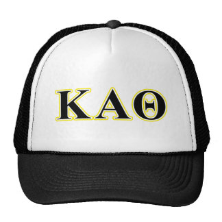Kappa Alpha Theta Yellow and Black Letters Trucker Hat