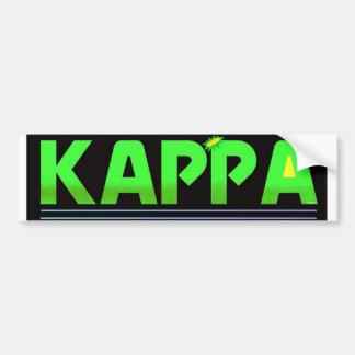 Kappa Car Bumper Sticker