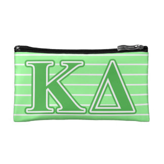 Kappa Delta Green Letters Cosmetic Bag