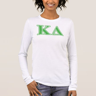 Kappa Delta Green Letters Long Sleeve T-Shirt
