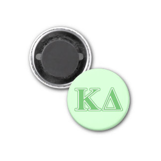 Kappa Delta Green Letters Magnet