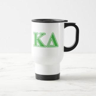 Kappa Delta Green Letters Mug