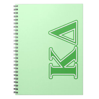 Kappa Delta Green Letters Spiral Notebook