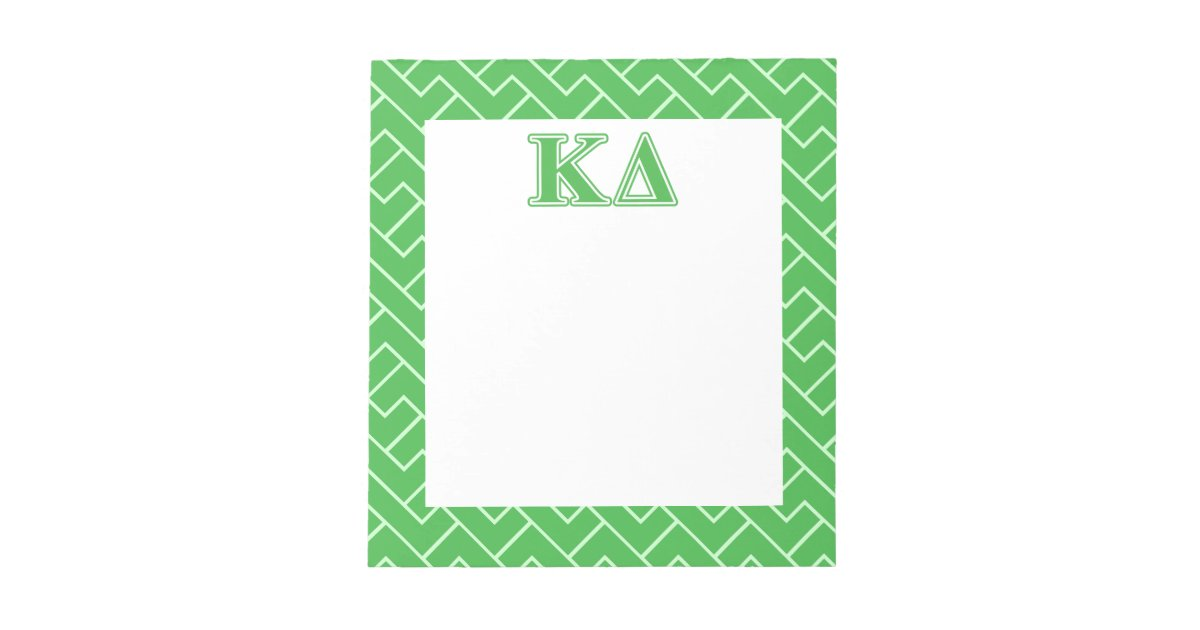 Kappa Delta Notepad Kappa Delta Stationery Name Sorority Notepad Personalized Sorority Notepad Sorority Notepad