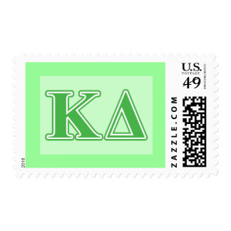 Kappa Delta Green Letters Postage Stamp