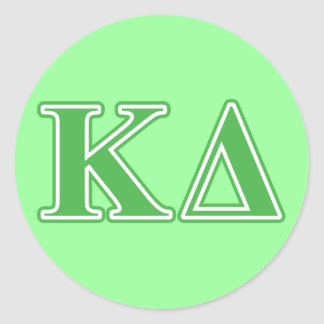 Kappa Delta Green Letters Stickers