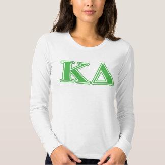 Kappa Delta Green Letters T-shirts