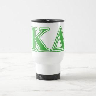 Kappa Delta Green Letters Travel Mug