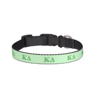 Kappa Delta Green Letters Dog Collar