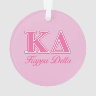 Kappa Delta Pink Letters