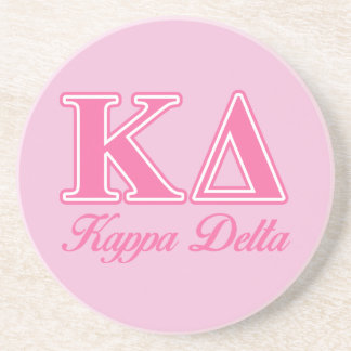 Kappa Delta Pink Letters Drink Coaster