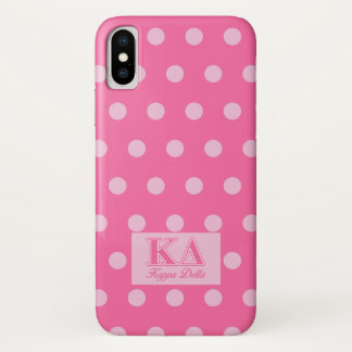 Kappa Delta Pink Letters iPhone X Case
