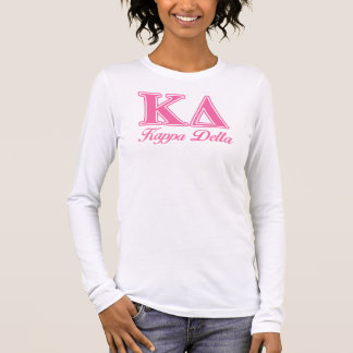 Kappa Delta Pink Letters Long Sleeve T-Shirt