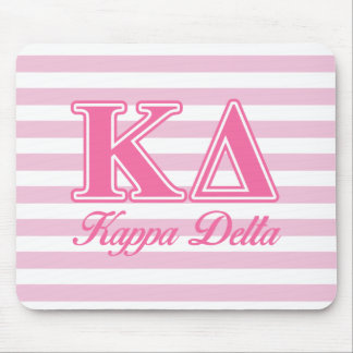 Kappa Delta Pink Letters Mouse Pad