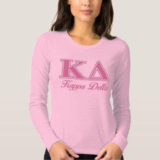 Kappa Delta Pink Letters Tee Shirt