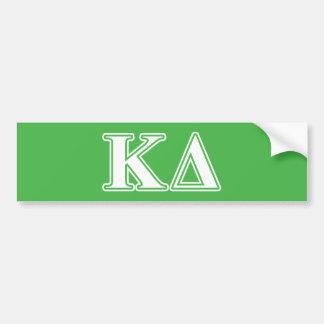 Kappa Delta White Letters Car Bumper Sticker