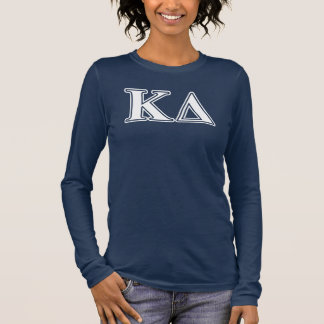Kappa Delta White Letters Long Sleeve T-Shirt