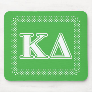 Kappa Delta White Letters Mouse Pad
