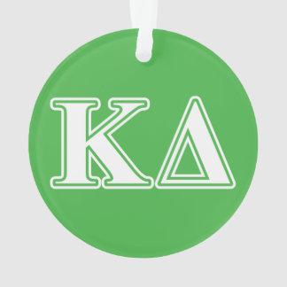 Kappa Delta White Letters Ornament