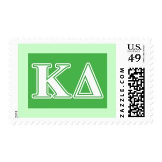 Kappa Delta White Letters Postage