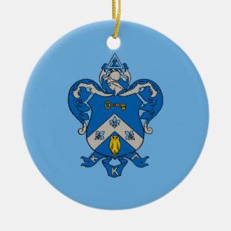 Kappa Kappa Gama Coat of Arms Ceramic Ornament