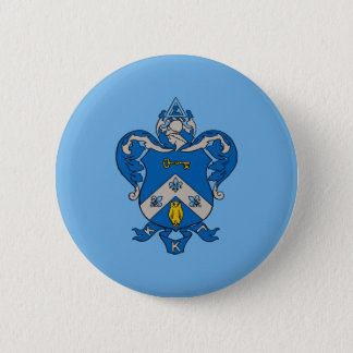 Kappa Kappa Gama Coat of Arms Pinback Button