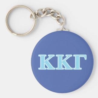 Kappa Kappa Gamma Baby Blue Letters Keychain