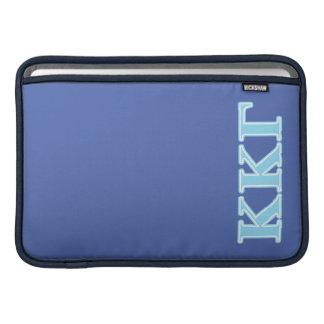 Kappa Kappa Gamma Baby Blue Letters MacBook Air Sleeve