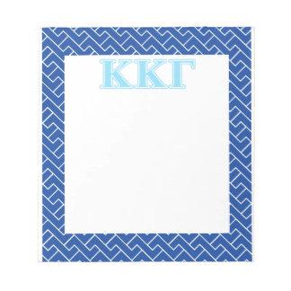 Kappa Kappa Gamma Baby Blue Letters Note Pad