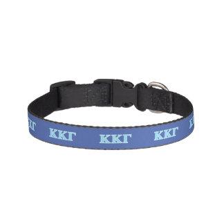 Kappa Kappa Gamma Baby Blue Letters Pet Collar