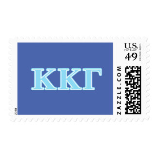 Kappa Kappa Gamma Baby Blue Letters Postage Stamps