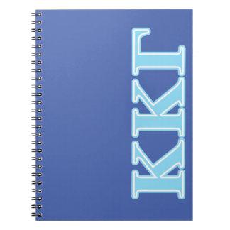 Kappa Kappa Gamma Baby Blue Letters Spiral Notebook