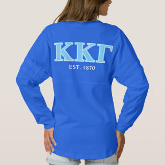 Kappa Kappa Gamma Baby Blue Letters Spirit Jersey