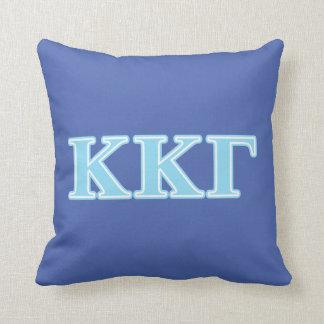 Kappa Kappa Gamma Baby Blue Letters Throw Pillow