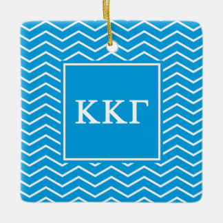 Kappa Kappa Gamma | Chevron Pattern Ceramic Ornament