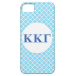 Kappa Kappa Gamma Royal Blue and Baby Blue Letters iPhone 5 Case