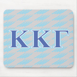 Kappa Kappa Gamma Royal Blue and Baby Blue Letters Mouse Pad