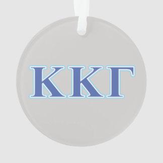 Kappa Kappa Gamma Royal Blue and Baby Blue Letters Ornament