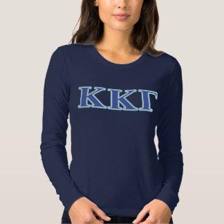 Kappa Kappa Gamma Royal Blue and Baby Blue Letters Tshirt