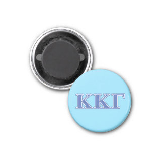 Kappa Kappa Gamma Royal Blue Letters 1 Inch Round Magnet
