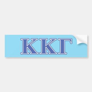 Kappa Kappa Gamma Royal Blue Letters Car Bumper Sticker