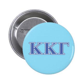 Kappa Kappa Gamma Royal Blue Letters Button