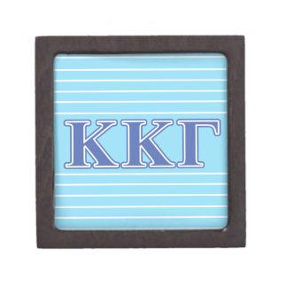 Kappa Kappa Gamma Royal Blue Letters Jewelry Box