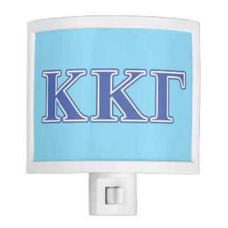 Kappa Kappa Gamma Royal Blue Letters Night Light