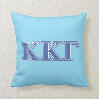 Kappa Kappa Gamma Royal Blue Letters Pillow