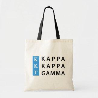 Kappa Kappa Gamma   Stacked Logo Tote Bag