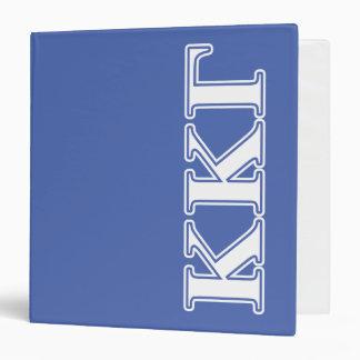 Kappa Kappa Gamma White and Royal Blue Letters 3 Ring Binder