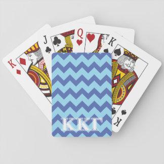 Kappa Kappa Gamma White and Royal Blue Letters Card Decks