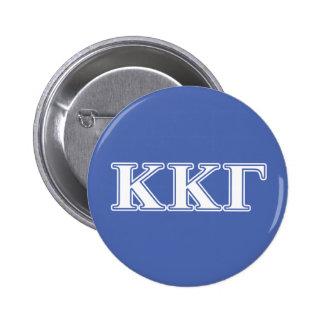 Kappa Kappa Gamma White and Royal Blue Letters Pinback Button